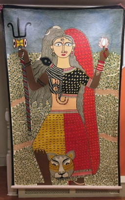 Shalini Karn _ Ardhanarishvara _the God Shiva as Man and Woman - acrylic on canvas _4 feet x 8 feet approx. 2018.