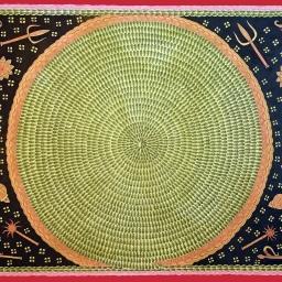 Shalini Karn_Ant Mandala with Hindu Icons _ acrylic on handmade paper_30x22_2016